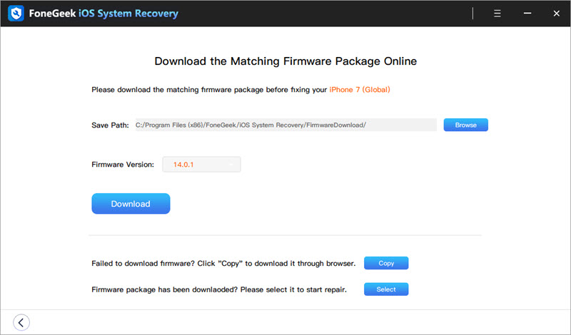 FoneGeek iOS System Recovery
