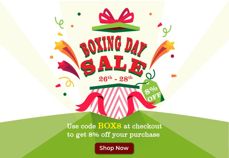Boxing Day Sale Offer - 26th to 28th December