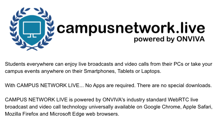 Campus Network Live Technology Details