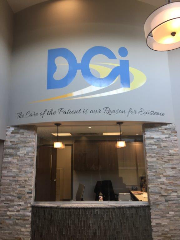 DCI St. James reception area