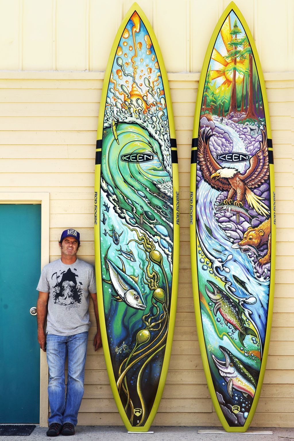 Drew Brophy and painted Riviera Paddleboards for K