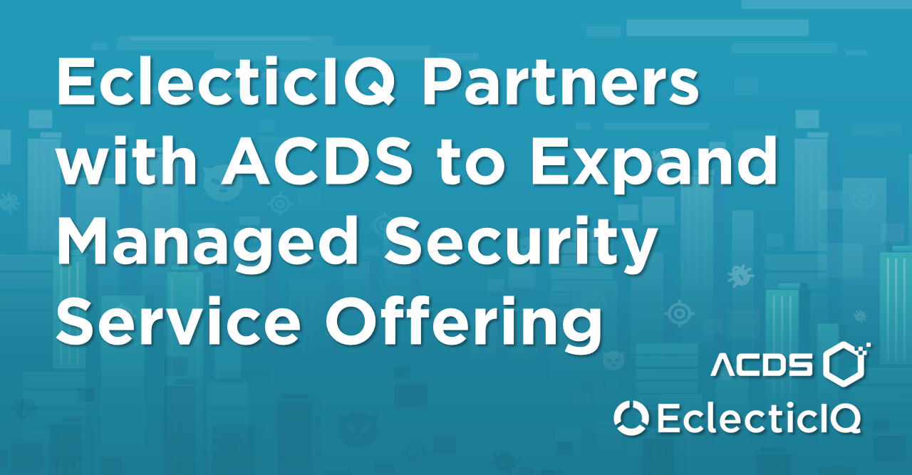 EclecticIQ partners with ACDS to expand offfering