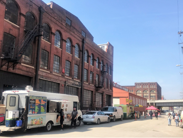 Food Trucks and Outside Dining: KC West Bottoms