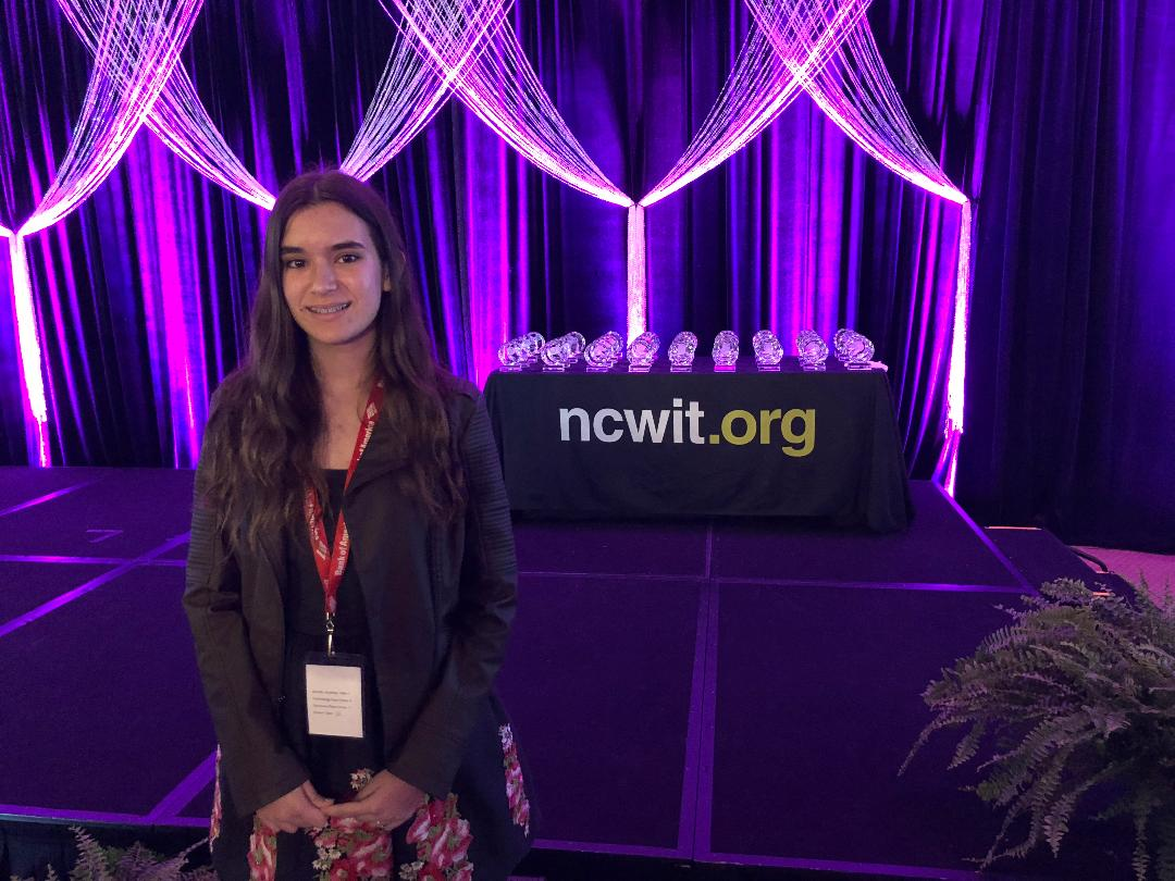 Gia Mar Ramos at NCWIT AiC National Winners Gala