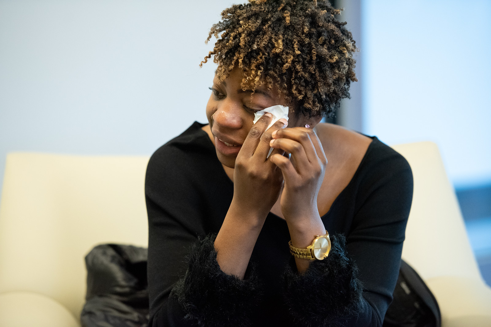 A Howard University Student Overcome with Emotion