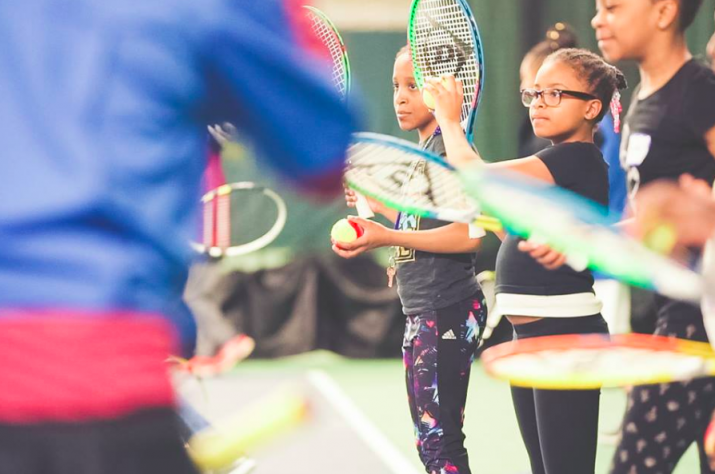 Kids learn tennis and life skills in a nurturing and welcoming environment.