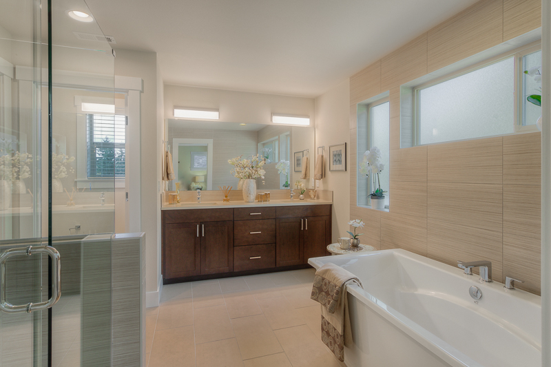 Master bathroom at Monterey Meadows in Renton, WA
