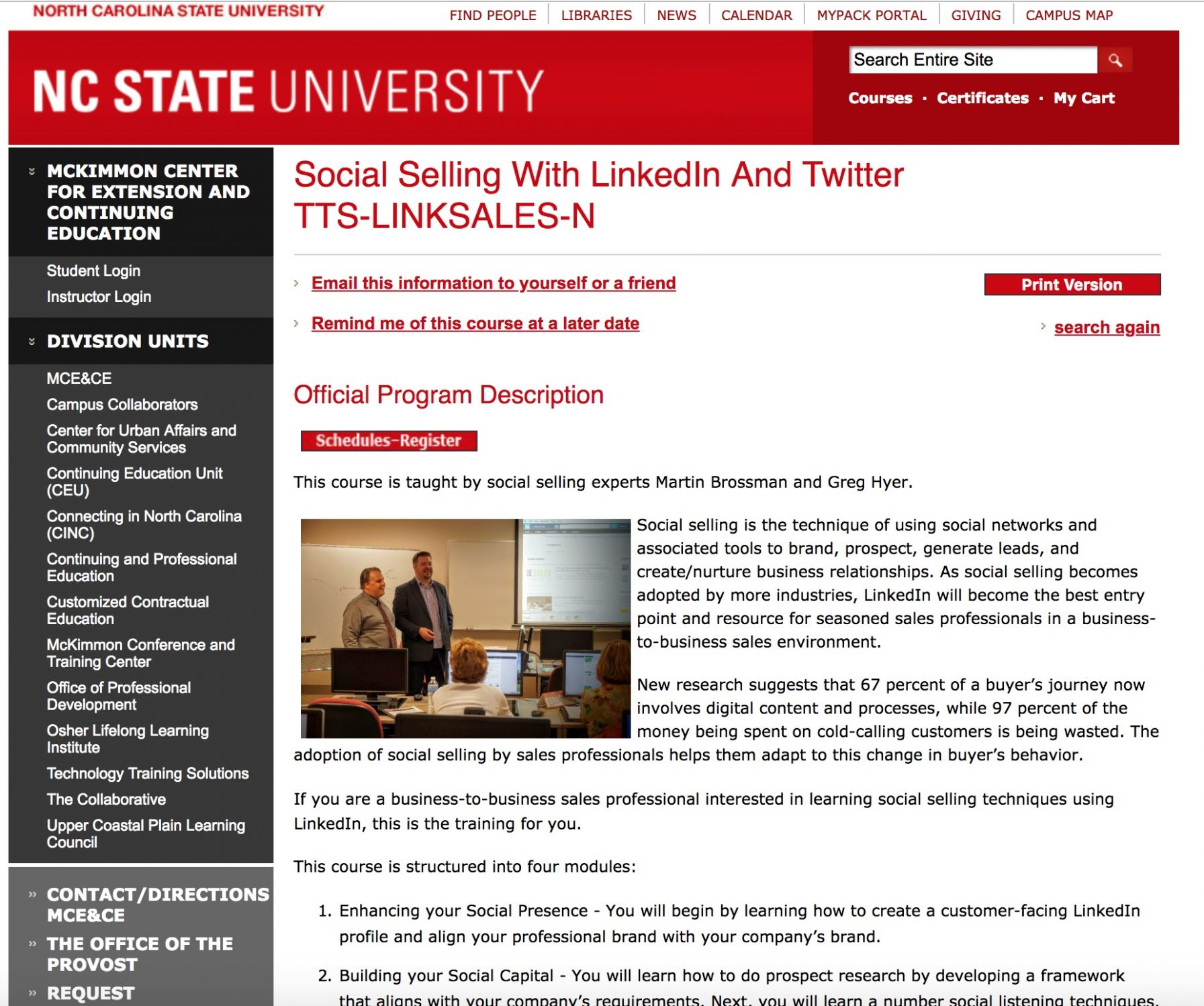 NCSU TTS Social Selling With LinkedIn And Twitter