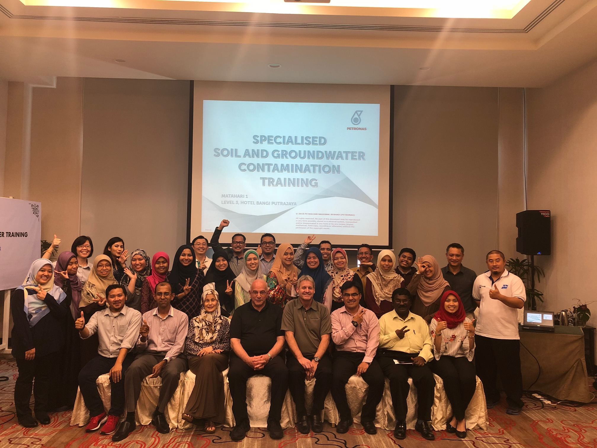 Petronas and Dragun Corporation Group Picture After Completing Training Classes