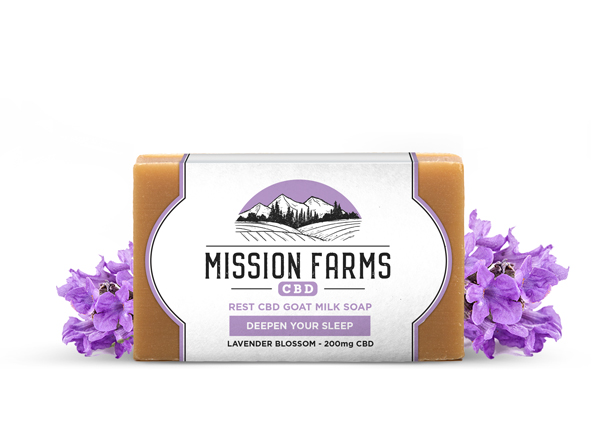 Rest CBD Goat Milk Soap from Mission Farms CBD