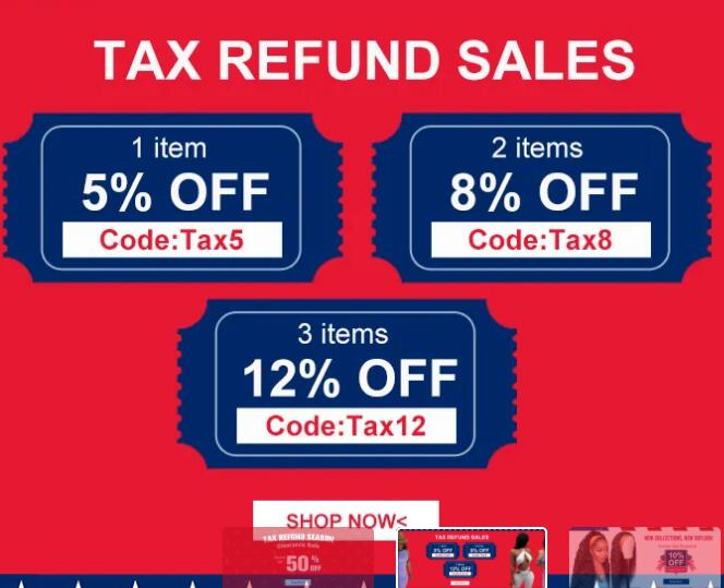 Tax Refund Sale For Women Clothing