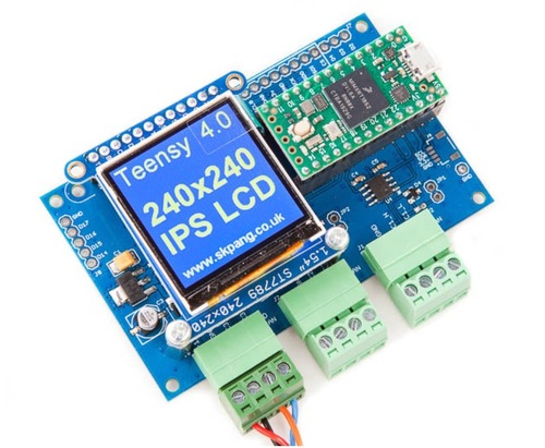 Teensy 4 0 Triple Can Board With 240x240 Ips Lcd A