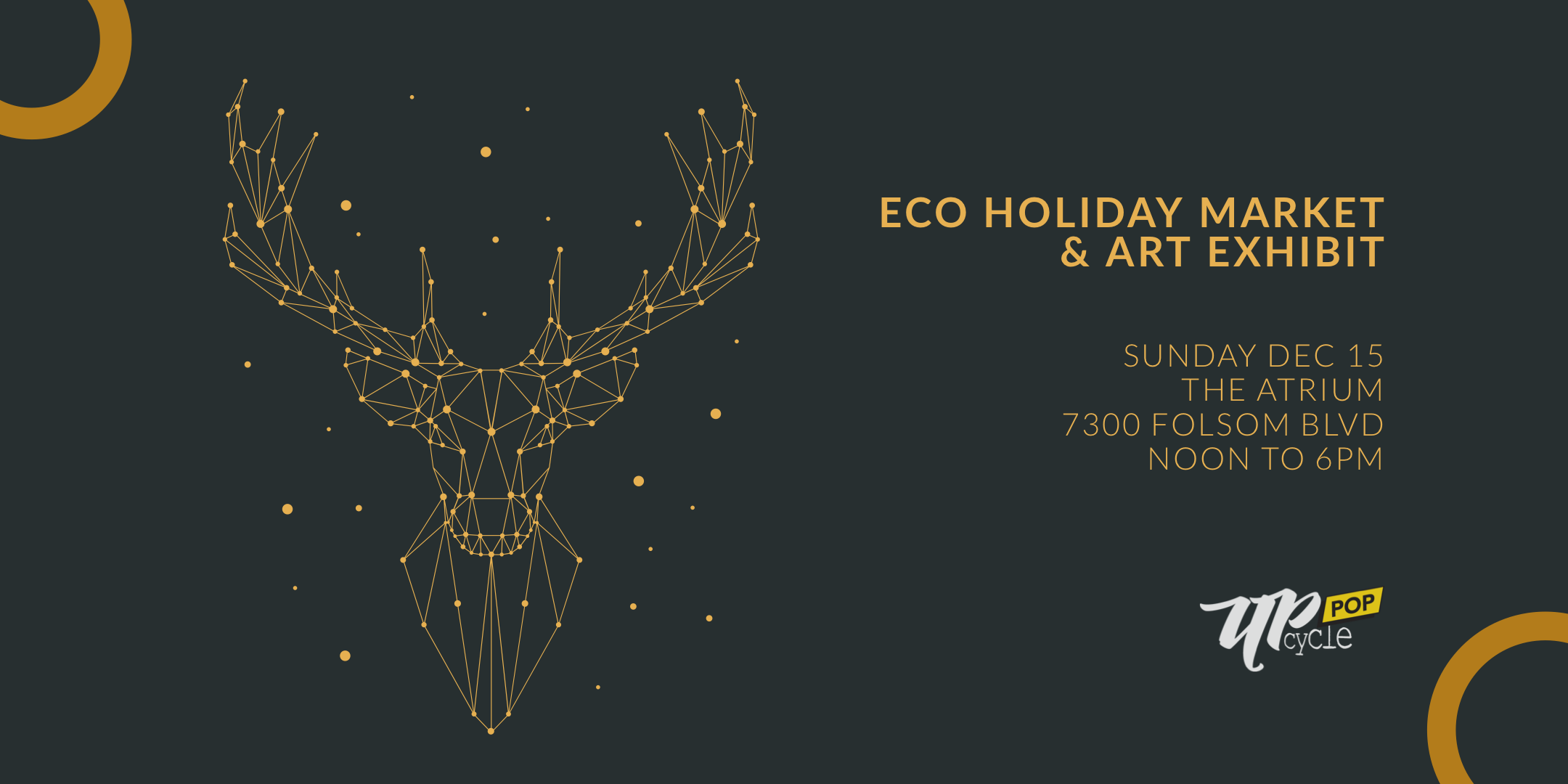 Upcycle Pop 2019 - Sustainable holiday shopping event and art exhibits