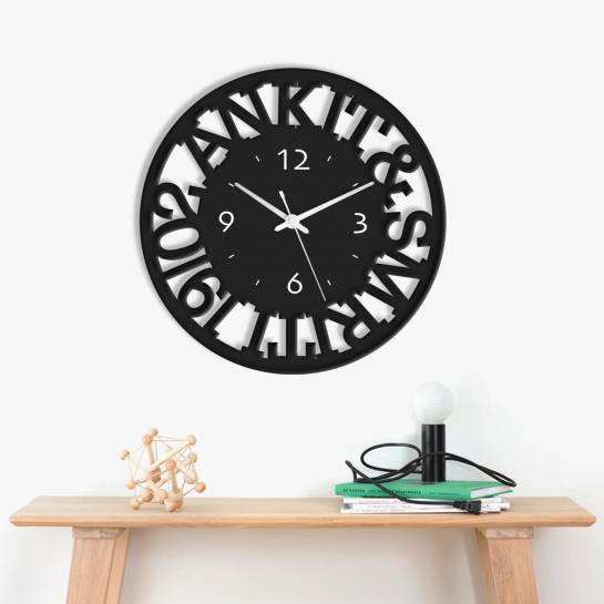 Wall Clock - Personalised Names Cutout