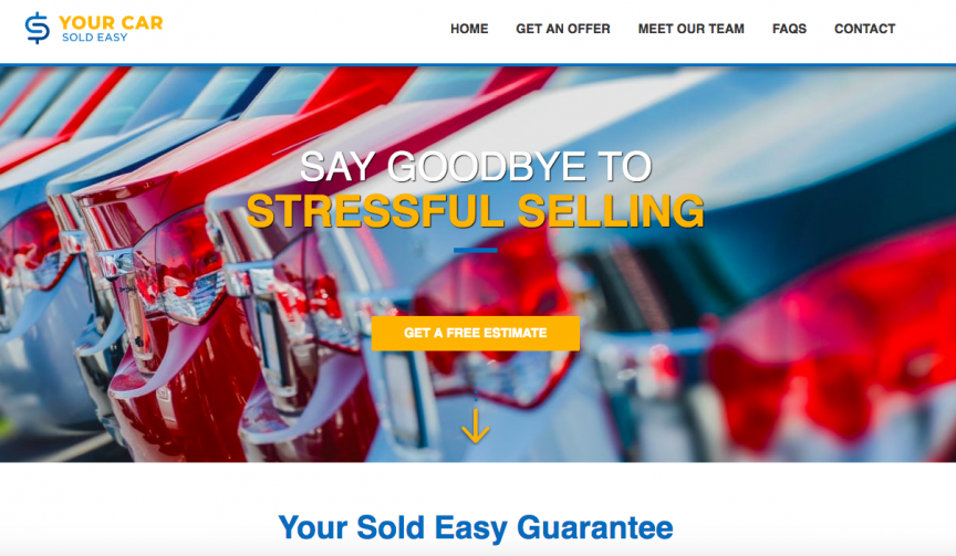 Your Car Sold Easy website